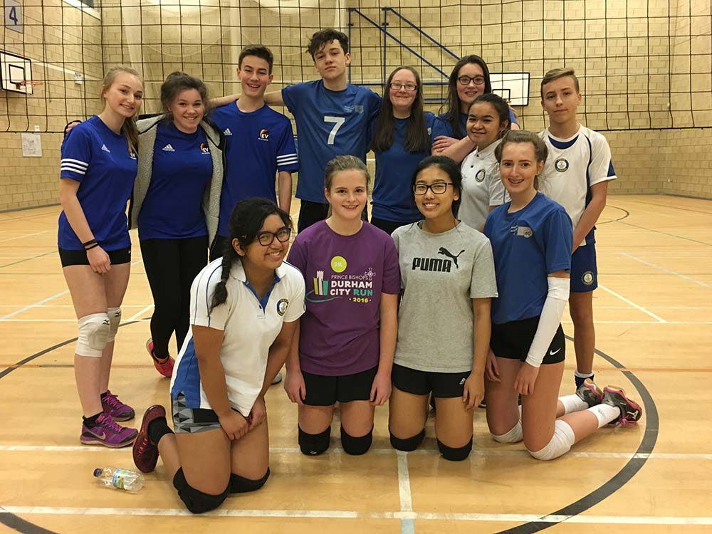 Carmel Satellite Volleyball Team Play Acklam Volleyball Team