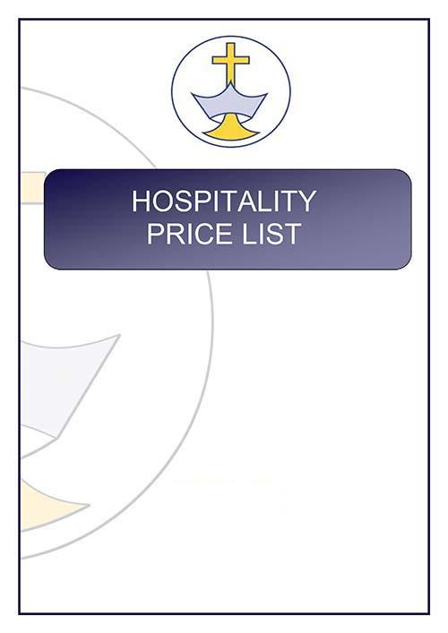 Hospitality Price List